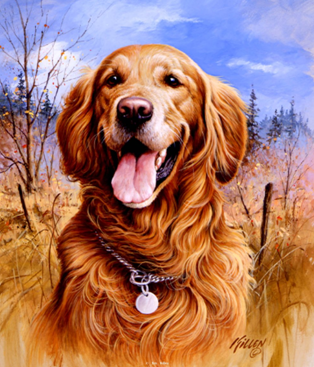 The paintings of artist Jim Killen is really realistic, he puts every single detail a dog can have in his paintings.