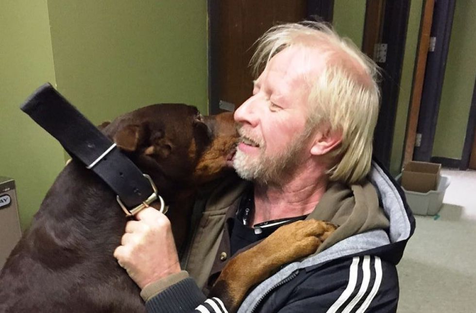 An owner reunited with his dog after he was lost for 3 years.