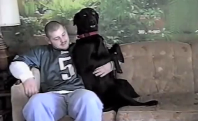 each time the owner of this black Labrador dog stops belly rubs, he does this! It will melt your heart