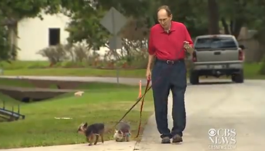 This man with Leukemia got tired from walking; the neighbors did an awesome thing for him. It's very touching!