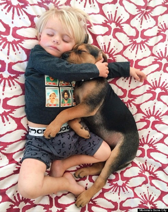 Its Love At First Nap Adorable Photos Of Baby Theo And His Puppy - Toddler naps with puppy