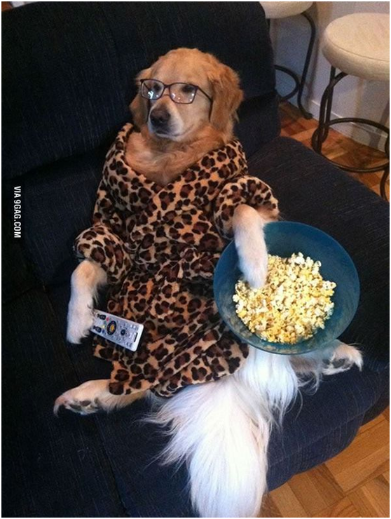 Eating popcorn while watching some movies… best time ever.