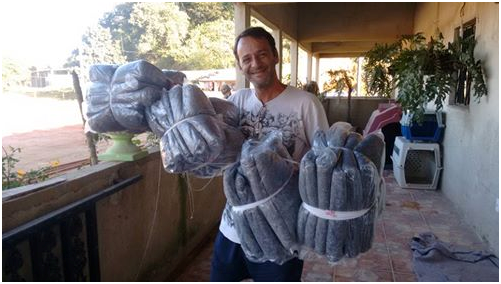Some blankets for the animals in the shelter.