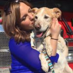 Woman takes in a senior pup after his owner dies. But finding THIS out at the vet shocked her